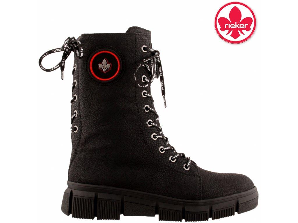 Dámská kotníková obuv RIEKER X3423-00 černá