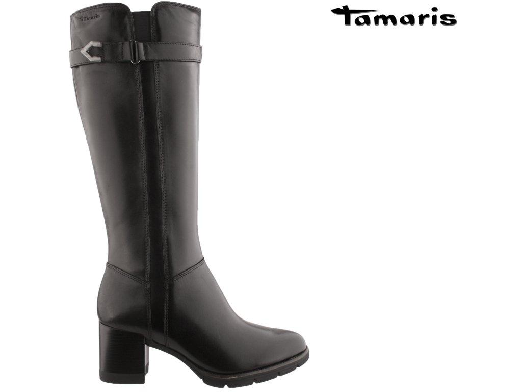Dámské kozačky TAMARIS 1-25526-27 007 černé