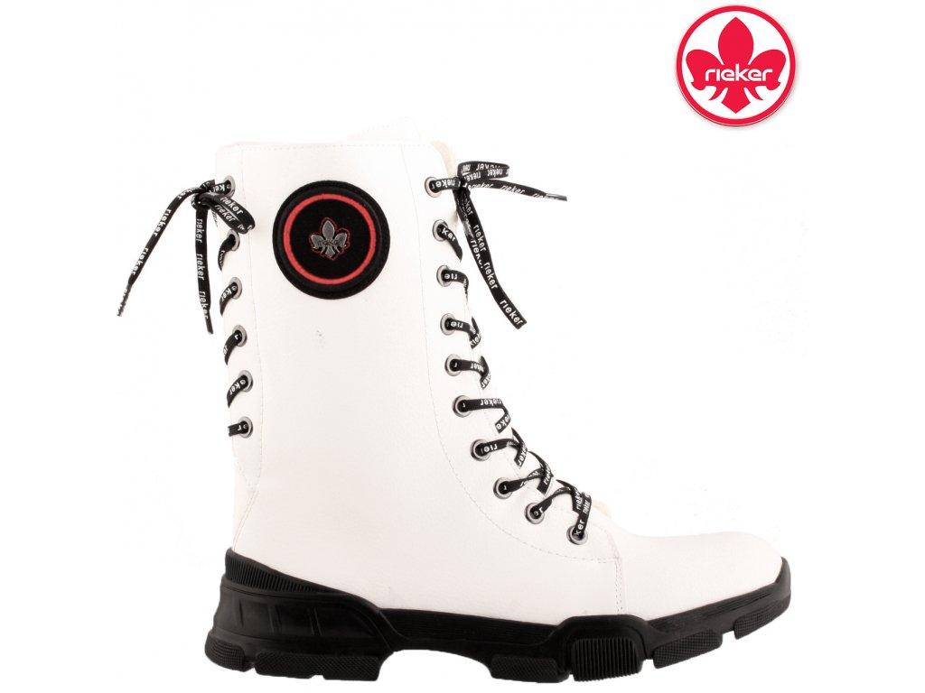 Dámská kotníková obuv RIEKER X4423-80 bílá
