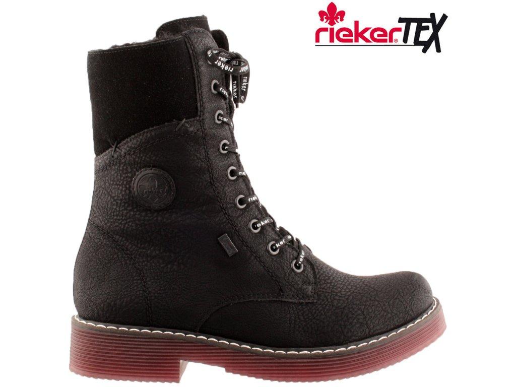 Dámská kotníková obuv RIEKER 70048-00 černá