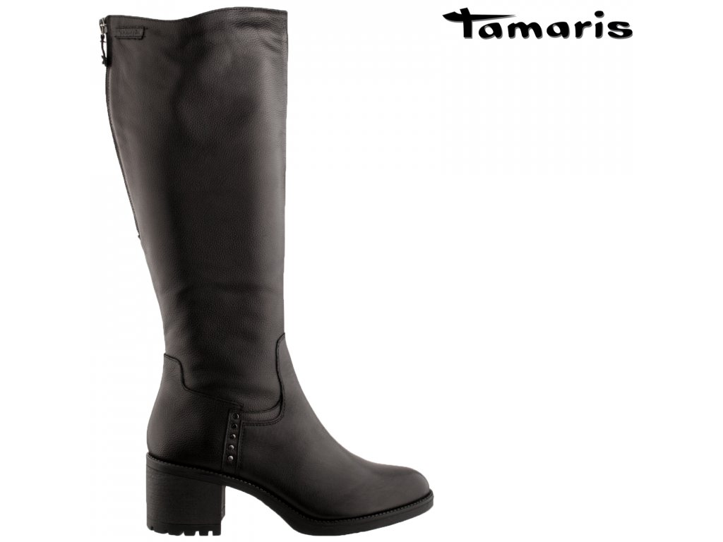 Dámské kozačky TAMARIS 1-25604-25 001 černá 12814226