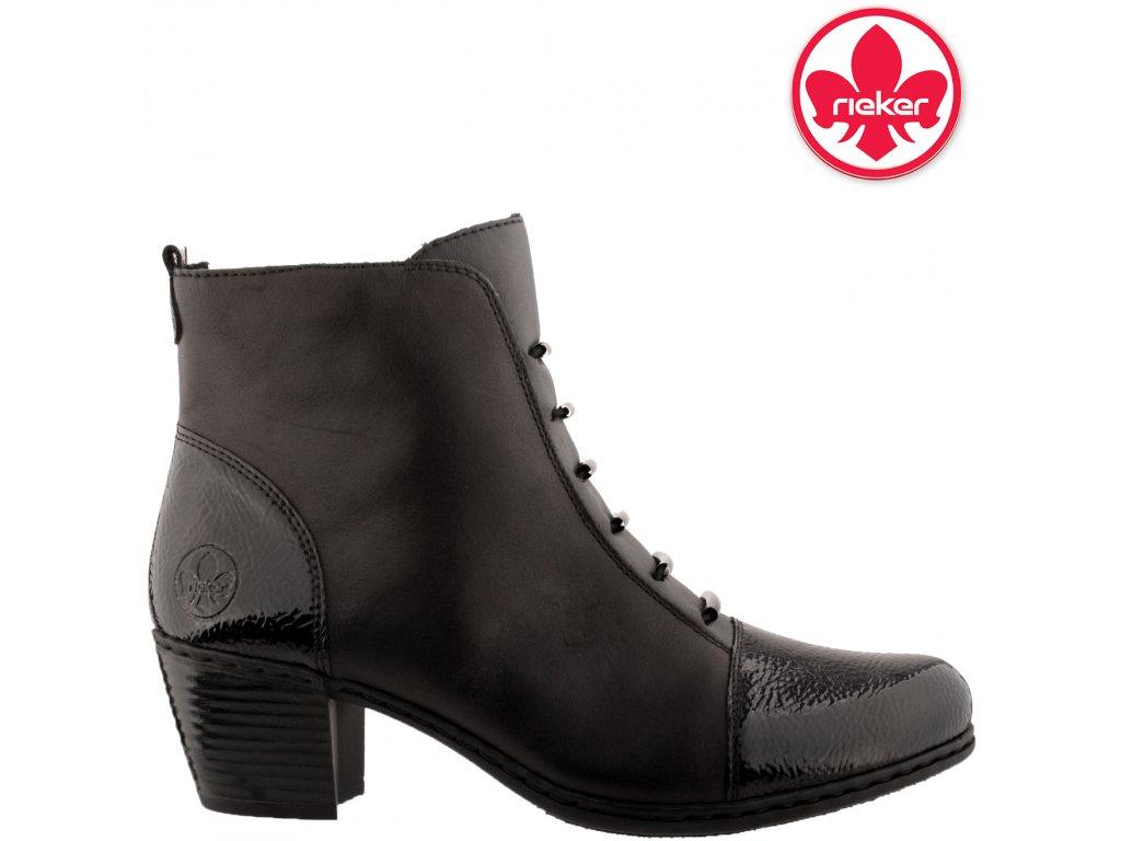 Dámská kotníková obuv RIEKER Y2162-00 černá