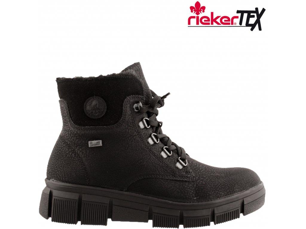 Dámská Kotníková obuv RIEKER X3433-00 černá