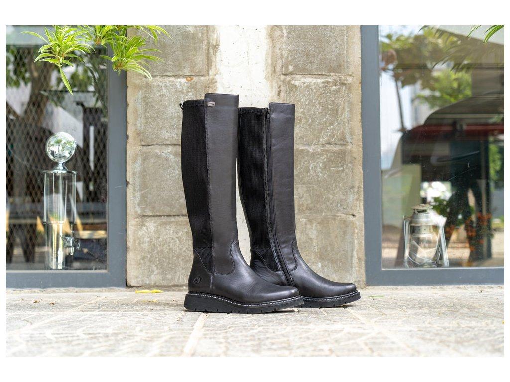 Dámské kozačky REMONTE D3975-01 černá