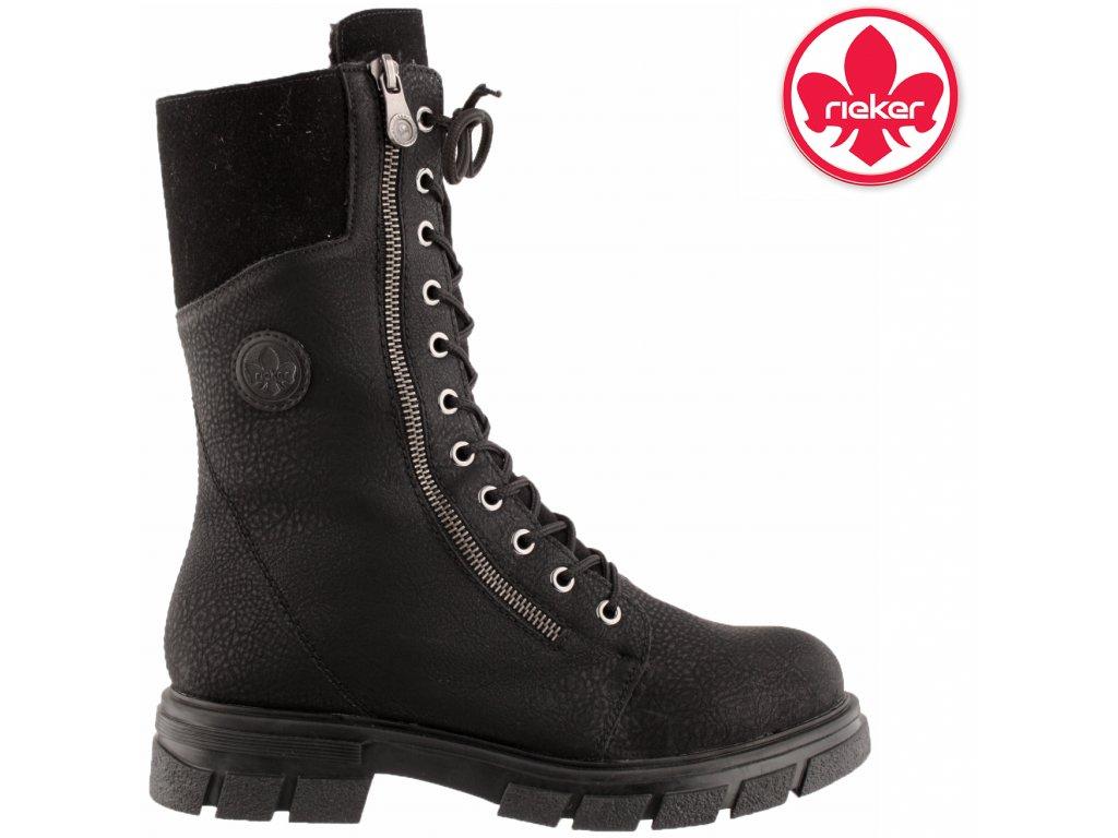 Dámská kotníková obuv RIEKER Z9131 černá