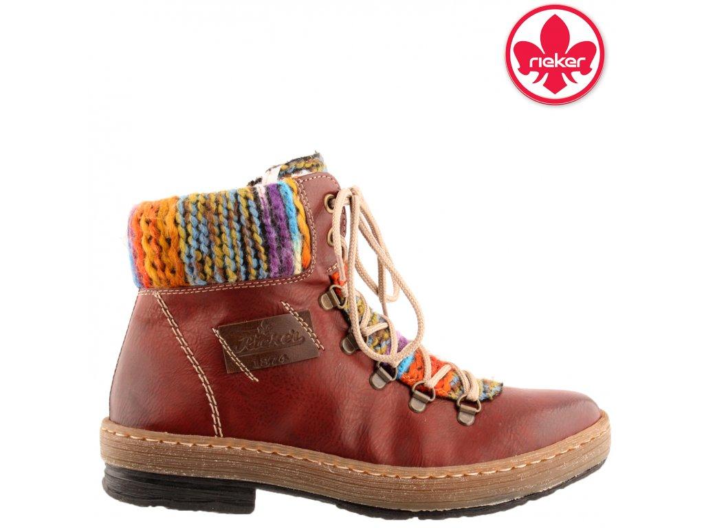 Dámská kotníková obuv RIEKER Z6743-35 červená