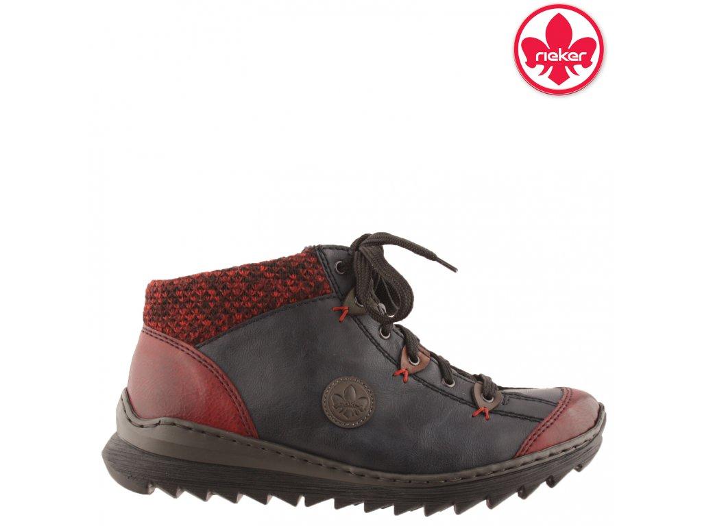 Dámská kotníková obuv RIEKER 52513-36 černá 991497