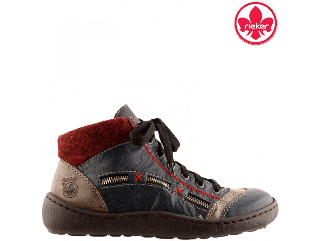 Dámská kotníková obuv RIEKER 44443-14 modrá 991143