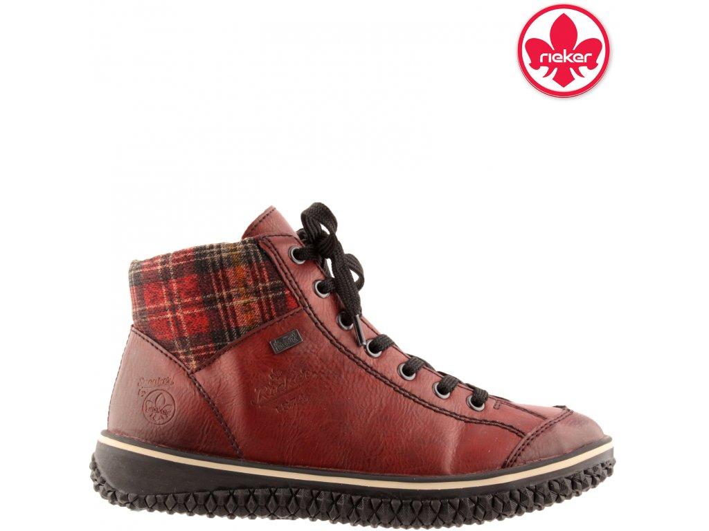 Dámská kotníková obuv RIEKER Z4243-36 červená 991654