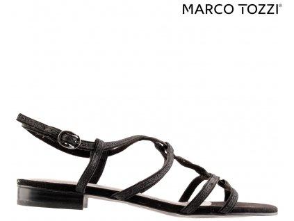 Černé páskové společenské dámské plesové boty Marco Tozzi Výprodej 16728403