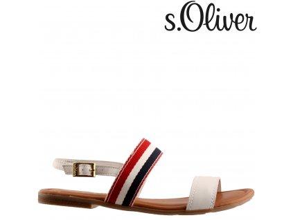 Dámské kožené páskové sandály na podpatku S.Oliver 5-5-28111-22/100 sleva 84978131