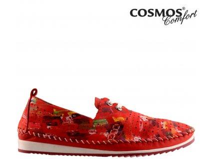 Dámské celo-kožené děrované šněrovací boty Cosmos Výprodej 59537231