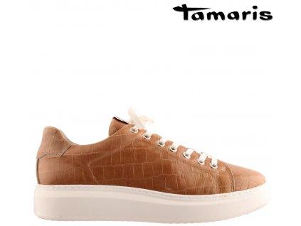 Kožené dámské šněrovací tenisky boty sneaker´s TAMARIS 1-1-23775-34-502 Sleva 61078152