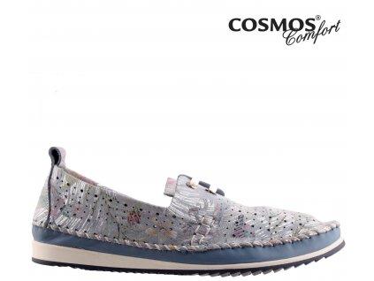 Dámské celo-kožené děrované šněrovací boty Cosmos Výprodej 37698011