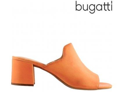 Dámské kožené nazouváky na podpatku Bugatti 411-67991-4100 sleva 69188529