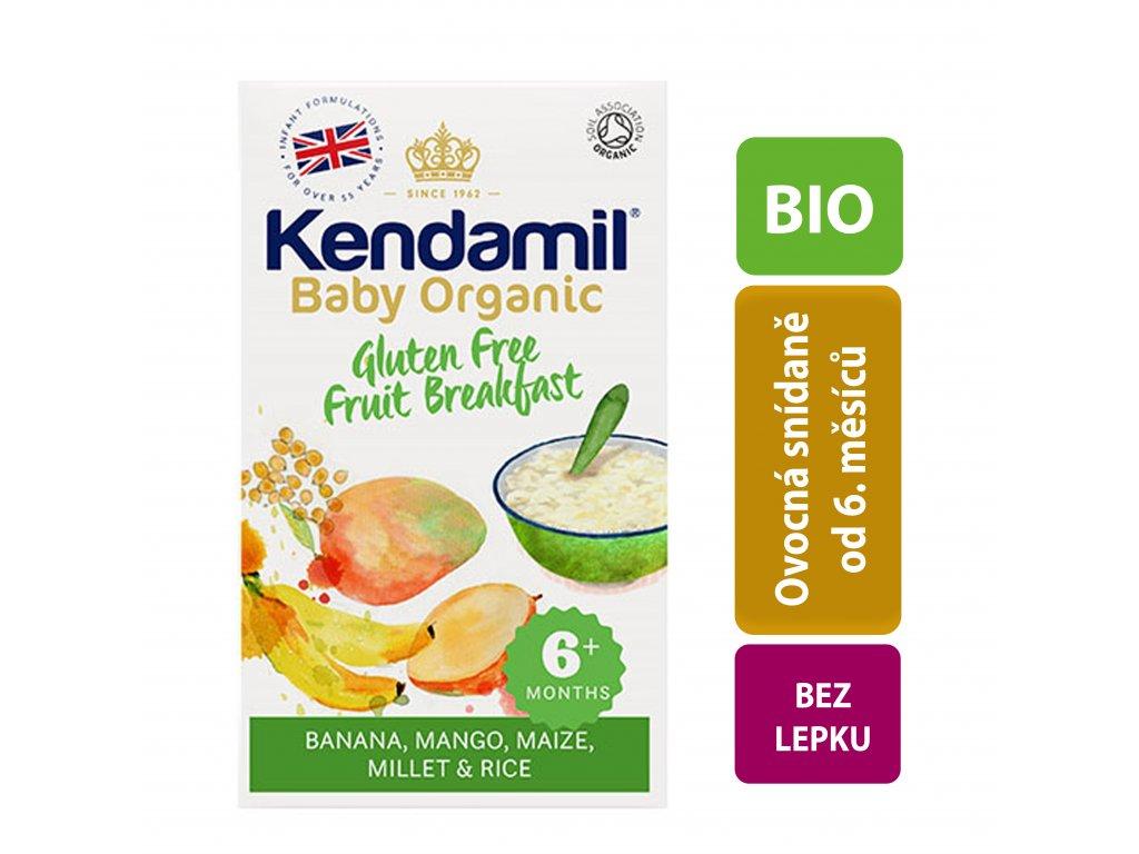 Kendamil  BIO/Organická dětská bezlepková ovocná kaše (150g) Počet balení: 1