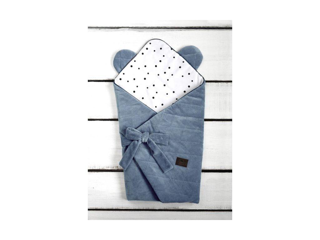 Zavinovačka Sleepee Royal Baby Swaddle Wrap modrá