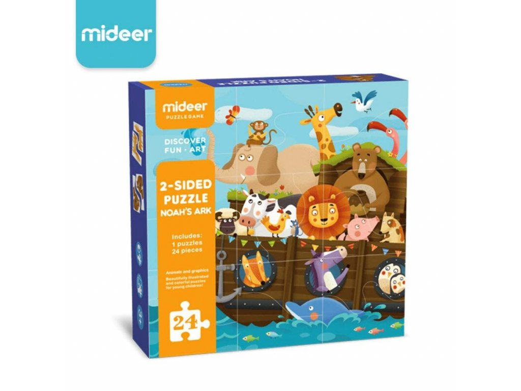 Mideer Children 2 Sided Puzzle Toys Noah s Ark Matching Puzzle Learning Educational Toys for Kids