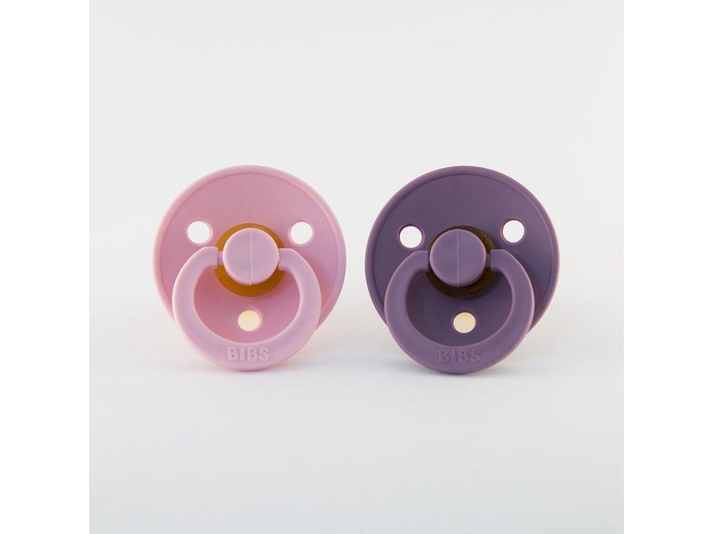 BIBS dudlík z přírodního kaučuku 2ks baby pink/lavender