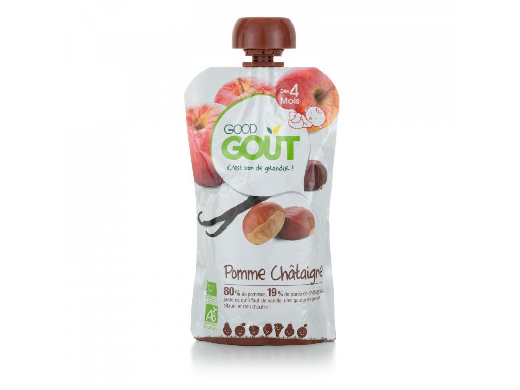 668 good gout bio jablko s kastanem a vanilkou 120 g