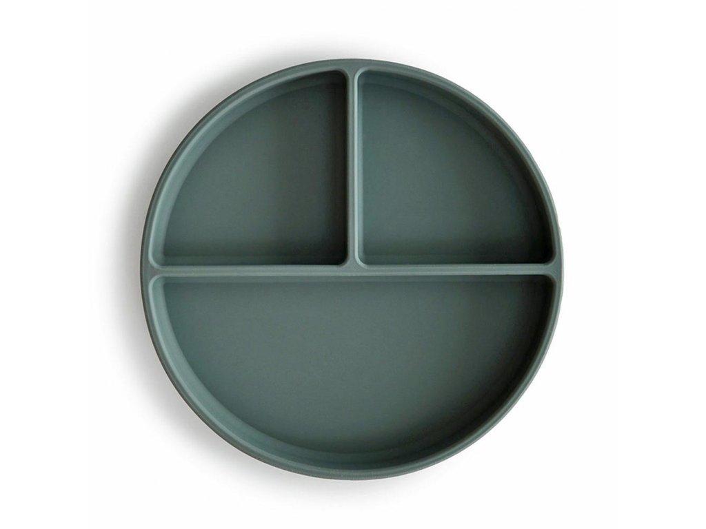 Mushie silikonovy tanier s prisavkou dried thyme