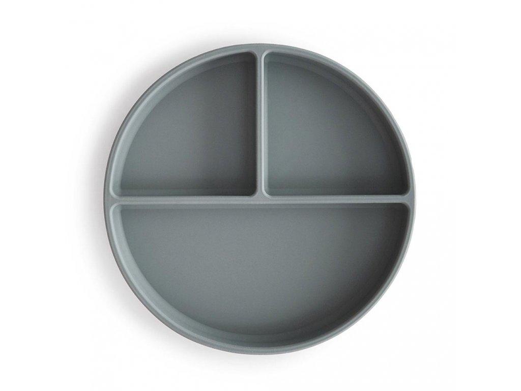 Mushie silikonovy tanier s prisavkou stone