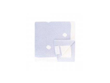 SHNUGGLE Luxusní pletená deka modrá
