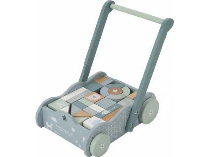 102455 little dutch vozicek s kostkami blue