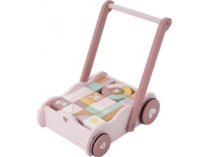 102476 little dutch vozicek s kostkami pink
