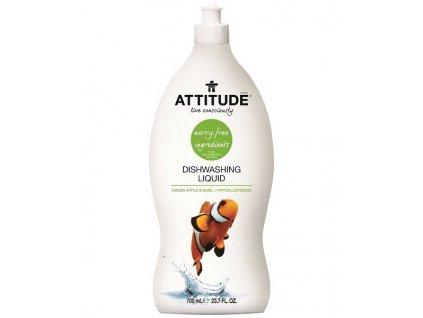 200 pripravek na myti nadobi attitude s vuni zeleneho jablka a bazalky 700 ml