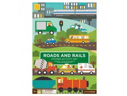sticker activity set reusable roads and rails transporation cover 625x