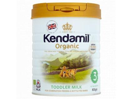 Kendamil 100% BIO/organické plnotučné batolecí mléko 3 (800g) Počet balení: 1