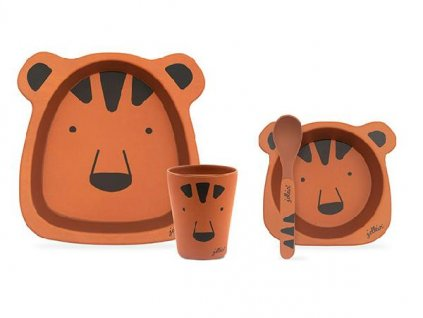 Bambusový jídelní set Animal club rust
