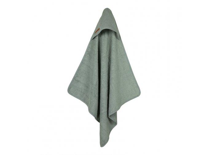 osuška s kapucí zelená
