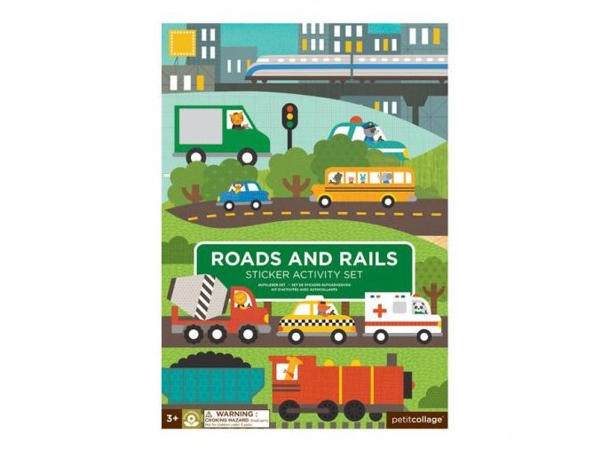 sticker activity set reusable roads and rails transporation cover 625x