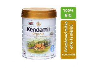 Kendamil 100% BIO/organické plnotučné pokračovací mléko 2 (800g) Počet balení: 1