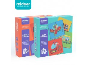 Mideer Baby Wooden Large Puzzle Game Toys Busy Traffic Giggle Animal Enlightenment Puzzle Boys and Girls