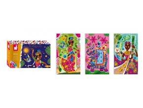 Janod Atelier Třpytivé obrázky Bollywood Midi