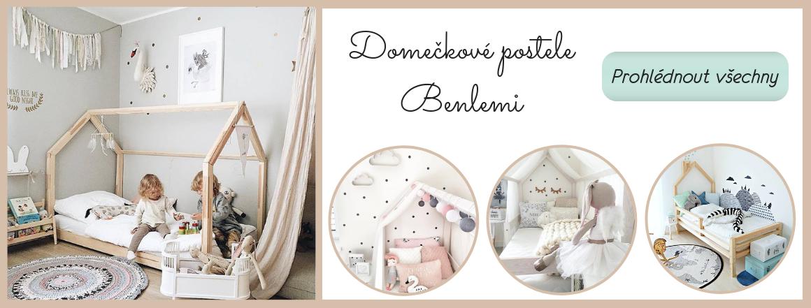 Domečkové postele Benlemi - snové království pro Vaše děti