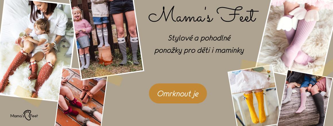 Mama's Feet - veselé ponožky a podkolenky pro děti i maminky