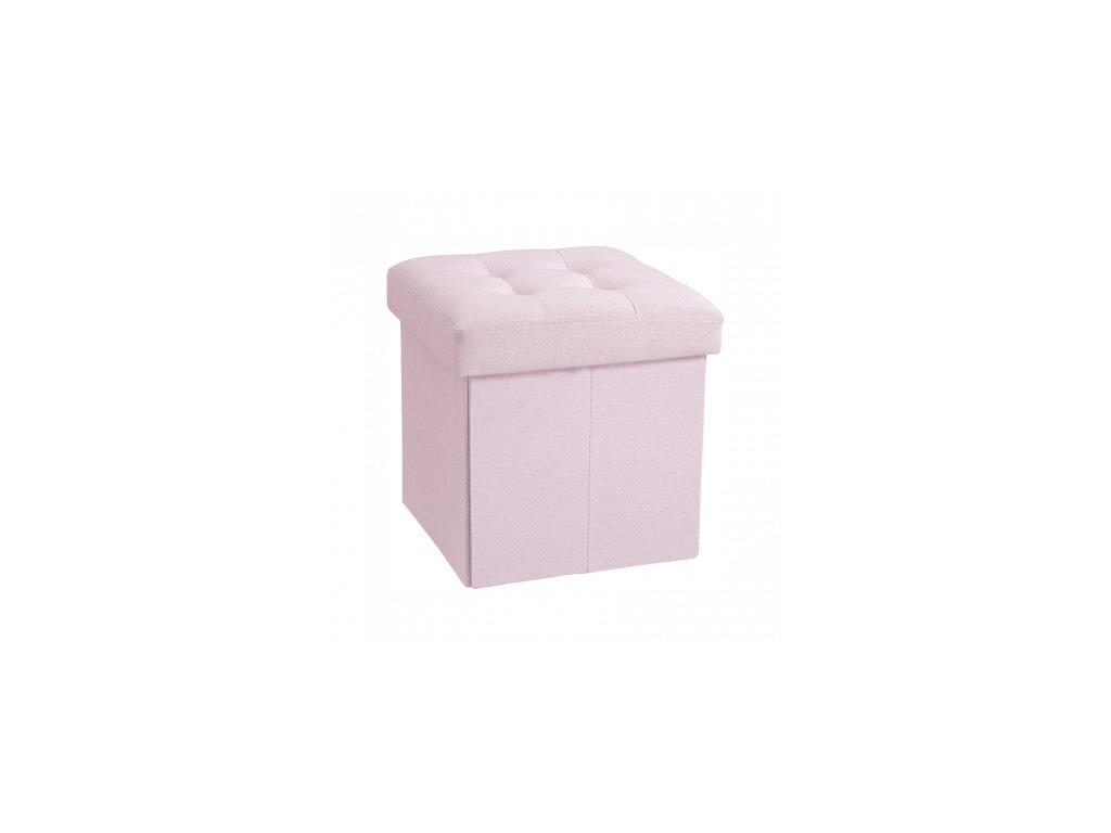 Dětský úložný box na hračky růžový Eliwood