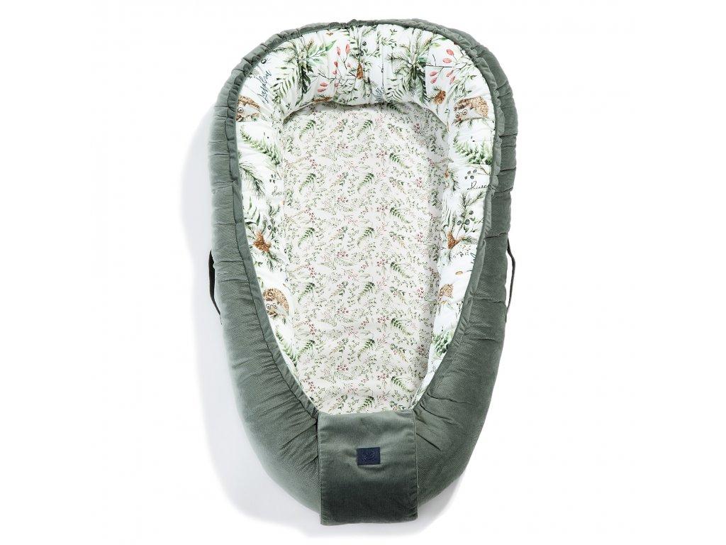 baby nest la millou velvet khaki forest(2)