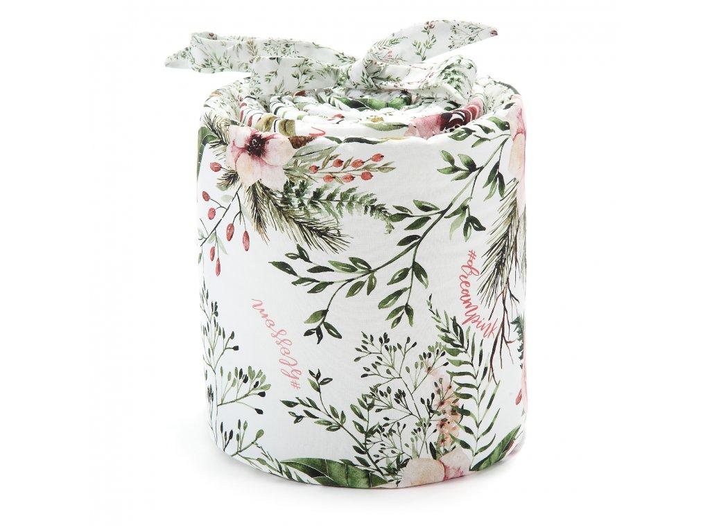 Stylový mantinel do postýlky La Millou Wild Blossom & Forest blossom.jpg