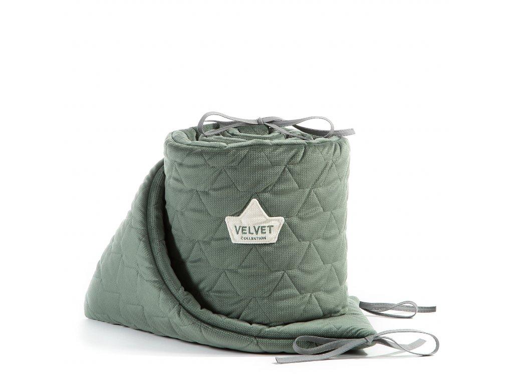 Luxusní mantinel do postýlky La Millou VELVET COLLECTION Khaki