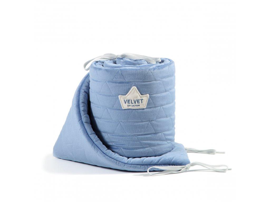 Luxusní mantinel do postýlky La Millou VELVET COLLECTION Dove Blue