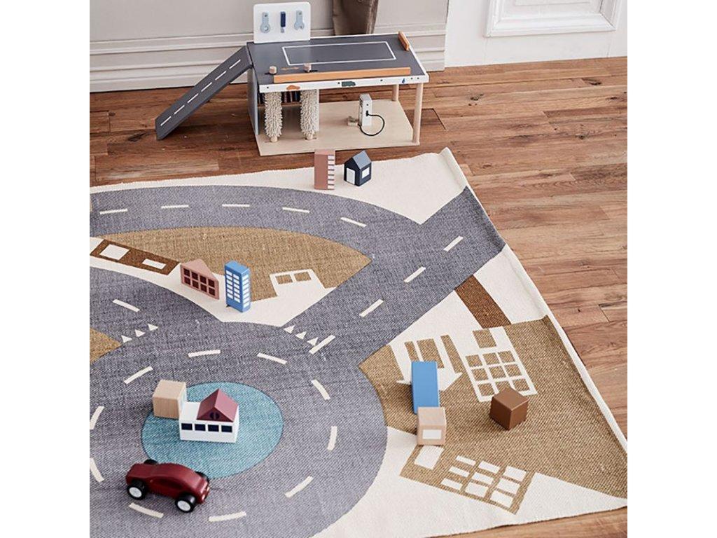 Dětský koberec na hraní se silnicí Kids Concept