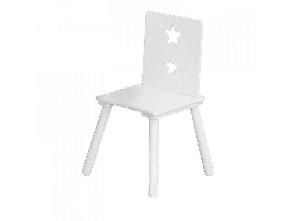 Dětská dřevěná židle Star bílá od Kids Concept