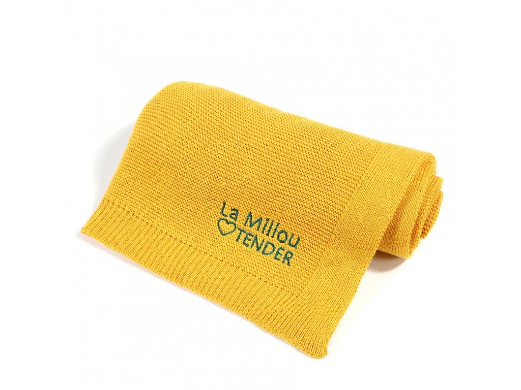 Luxusní pletená dětská deka pro miminka a batolata La Millou Tender Sunflower