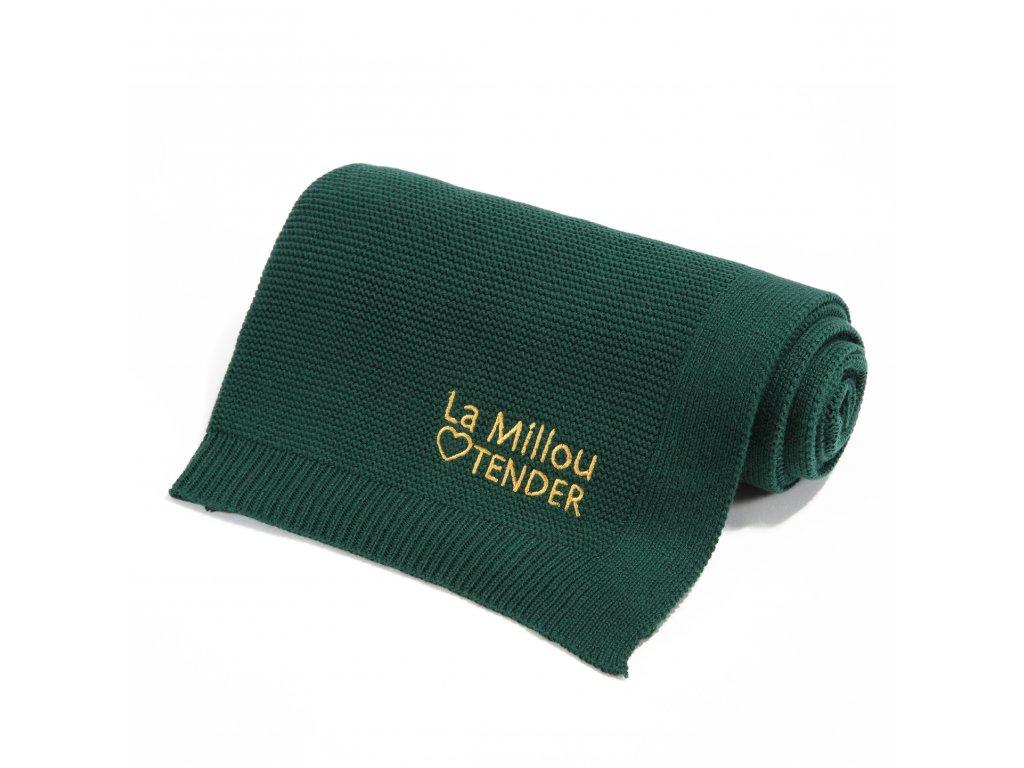Luxusní pletená dětská deka La Millou Tender Crocodile