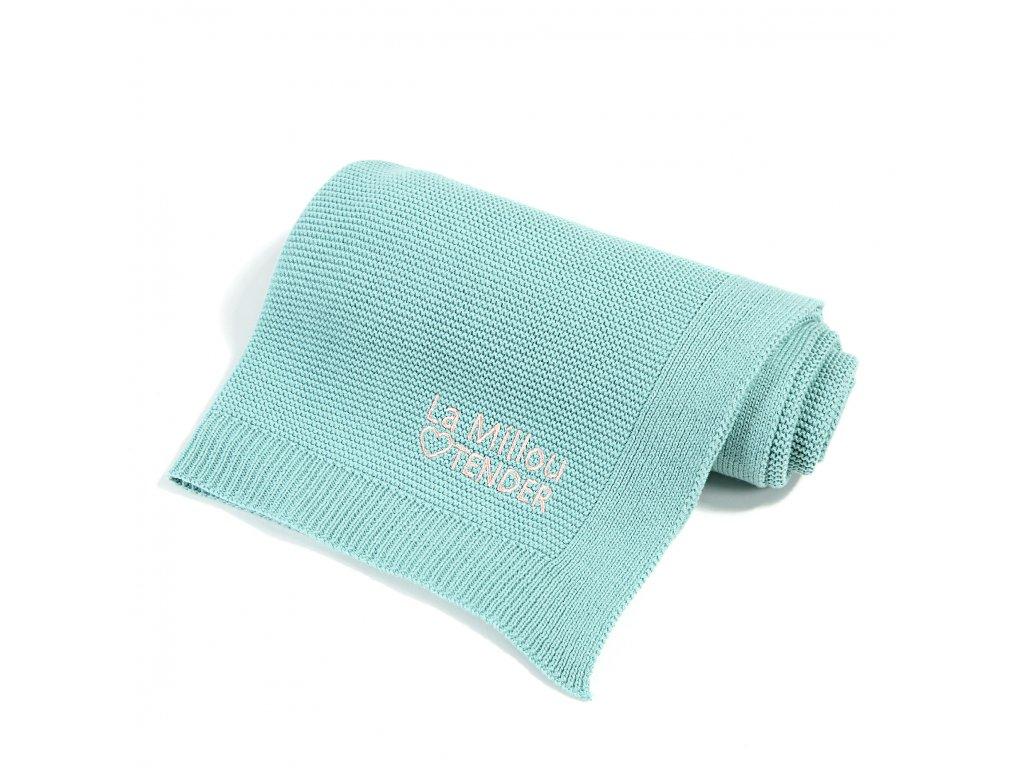 Luxusní pletená dětská deka La Millou Tender Pistachio